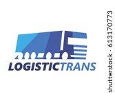 logistic truck logotype. vector. | Shutterstock .eps vector #613170773