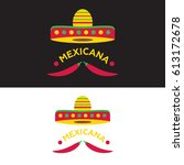 mexican food logo. mexican fast ... | Shutterstock .eps vector #613172678