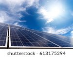 solar cell panel with strong... | Shutterstock . vector #613175294