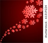 red abstract christmas... | Shutterstock .eps vector #61319224