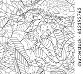 tracery seamless pattern.... | Shutterstock .eps vector #613192763