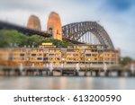 beautiful view of sydney... | Shutterstock . vector #613200590