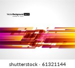 abstract retro technology lines ... | Shutterstock .eps vector #61321144