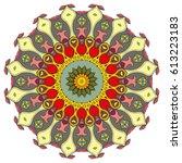 mandala flower decoration ... | Shutterstock .eps vector #613223183
