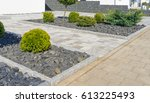 modern garden design | Shutterstock . vector #613225493