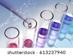 experiments in the laboratory | Shutterstock . vector #613237940