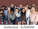 diverse group of people... | Shutterstock . vector #613240358