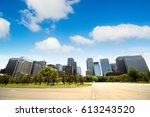 city landscape with blue sky | Shutterstock . vector #613243520