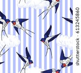 seamless pattern with the... | Shutterstock .eps vector #613245860