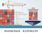 Containers Ship  High Altitude...