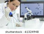 a female medical or scientific... | Shutterstock . vector #61324948