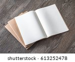 blank open book mock up ... | Shutterstock . vector #613252478