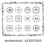 collection of beautiful frames... | Shutterstock .eps vector #613257620