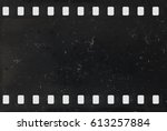strip of old celluloid film... | Shutterstock . vector #613257884