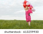 mom holds a daughter and... | Shutterstock . vector #613259930