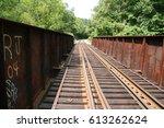 Railroad Bridge With Tracks...