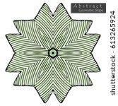geometrical flower sign... | Shutterstock .eps vector #613265924