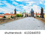charles bridge  tower  the... | Shutterstock . vector #613266053