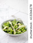 detox salad with pear  parmesan ... | Shutterstock . vector #613266278