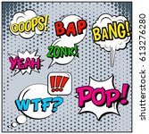abstract creative concept comic ... | Shutterstock .eps vector #613276280