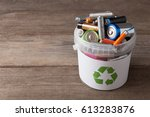 Battery Recycle Bin With Old...