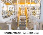 stair of gas metering station... | Shutterstock . vector #613285313