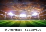 lights at night and stadium 3d | Shutterstock . vector #613289603