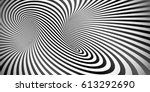 vector optical illusion black... | Shutterstock .eps vector #613292690