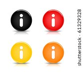 Colored Web 2.0 Button With...