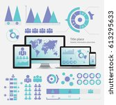 business infographic concept  ... | Shutterstock .eps vector #613295633