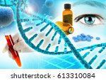 biochemistry and pharmaceutical ... | Shutterstock . vector #613310084