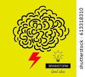 brainstorming creative  good... | Shutterstock .eps vector #613318310
