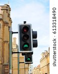 Small photo of Traffic light shows green light for bike allowance