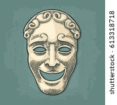 comedy theater mask. vector...