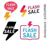 flash sale. badge  icon  logo... | Shutterstock .eps vector #613318988