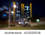 city light blur bokeh ... | Shutterstock . vector #613320518
