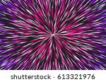 hyper speed warp sun rays or... | Shutterstock .eps vector #613321976