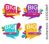 super sale  vector collection...   Shutterstock .eps vector #613323869