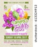 easter party poster design... | Shutterstock .eps vector #613324913