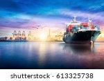 logistics and transportation of ... | Shutterstock . vector #613325738