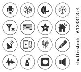 set of 16 radio filled icons... | Shutterstock .eps vector #613331354