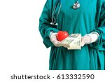 Medical Doctor Holding A Heart...