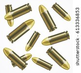 realistic bullet pattern with... | Shutterstock .eps vector #613336853