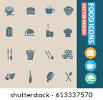 food icon set clean vector | Shutterstock .eps vector #613337570