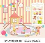 kindergarten vector... | Shutterstock .eps vector #613340318