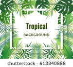 jungle background. tropical... | Shutterstock .eps vector #613340888