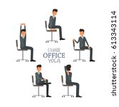 vector illustration with office ... | Shutterstock .eps vector #613343114