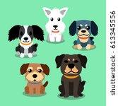 vector cartoon dogs   Shutterstock .eps vector #613345556