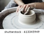 the woman's hands close up  the ...   Shutterstock . vector #613345949