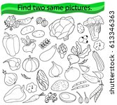 find two same pictures ... | Shutterstock .eps vector #613346363